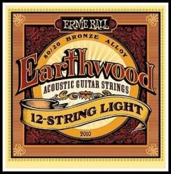 Ernie Ball - Ernie Ball Bronze 2010 (12 Telli) Akustik Gitar Teli