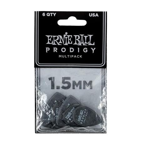 Ernie Ball - Ernie Ball P09342 1.5mm Black Multipack Prodigy Guitar Penası 6'lı Paket