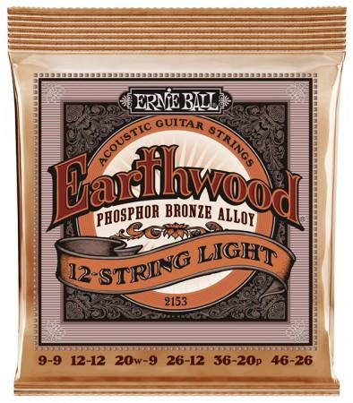 Ernie Ball - Ernie Ball Phpsphor Bronze 2153 09-46 (12 Telli) Akustik Gitar Teli