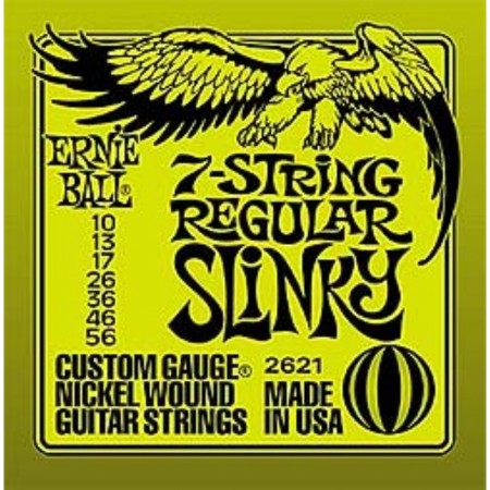 Ernie Ball - Ernie Ball Regular Slinky 7 Telli Elektro Gitar Teli (10-56)