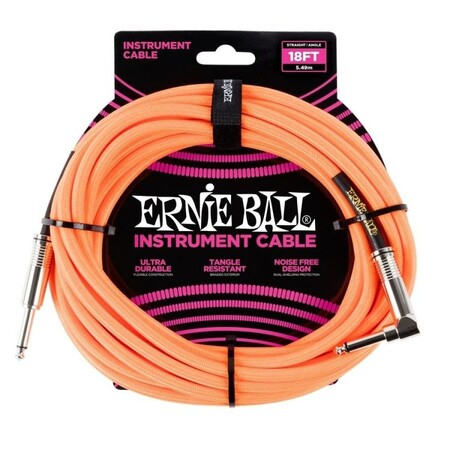Ernie Ball - ErnieBall 5.5 Metre Neon Gitar Kablosu