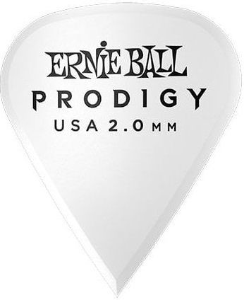 Ernie Ball - Ernie Ball P09341 / 2.0MM White Sharp Prodigy Gitar Penası 6'lı Paket