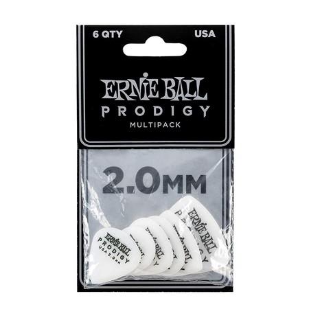 Ernie Ball - Ernie Ball P09343 / 2.0MM White Multipack Prodigy Gitar Penası 6'lı Paket