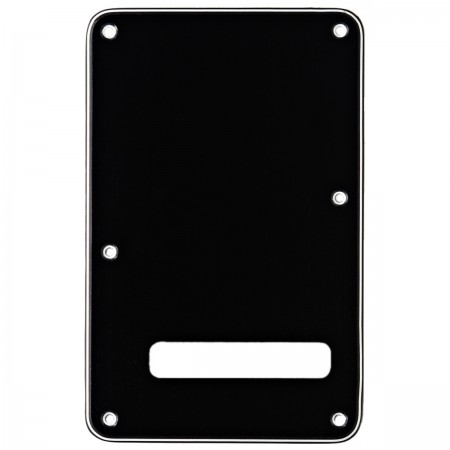 Fender - Fender Backplate Strat Siyah Arka Kapak