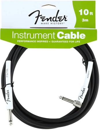 Fender - Fender 3 Metre Siyah L Uçlu Enstrüman Kablosu