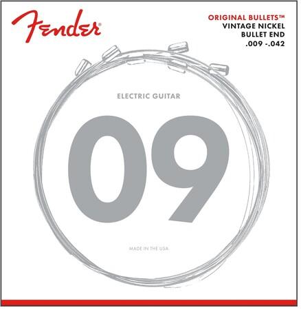 Fender - Fender 3150L Orijinal Pure Nickel Bullet Ends 09-42 Elektro Gitar Teli
