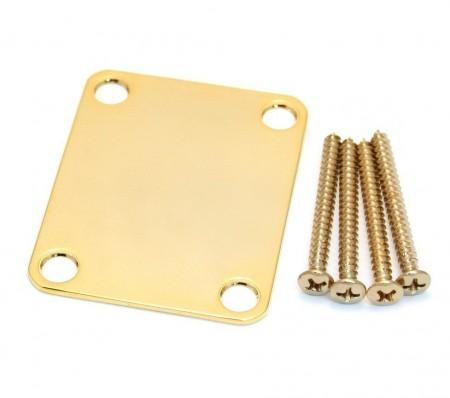 Fender - Fender 4 Bolt Vintage Stil Logosuz Gold Neck Plate