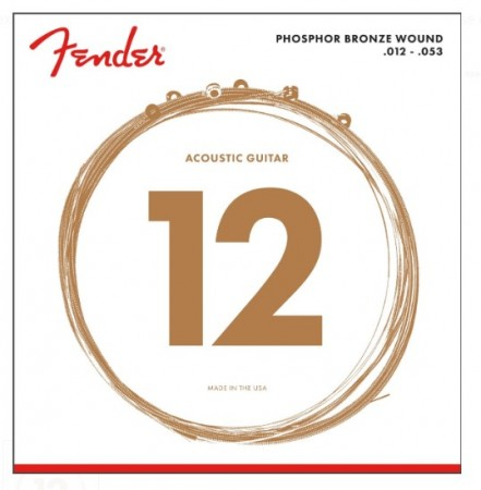 Fender - Fender 60L Phosphor Bronze Akustik Gitar Tel Takımı (.012-.053)