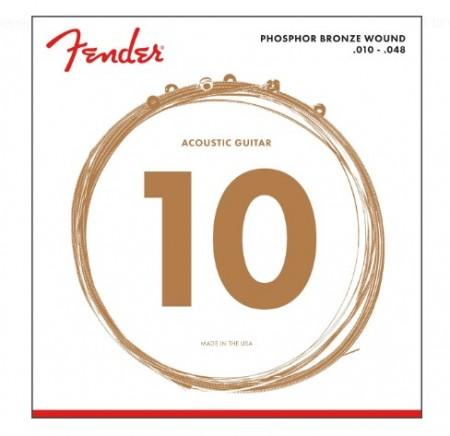 Fender - Fender 60XL Phosphor Bronze Akustik Gitar Tel Takımı (.010-.048)
