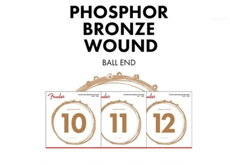 Fender 60XL Phosphor Bronze Akustik Gitar Tel Takımı (.010-.048) - Thumbnail