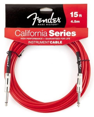Fender - Fender California Series Candy Apple Red 4.5 Metre Enstrüman Kablosu