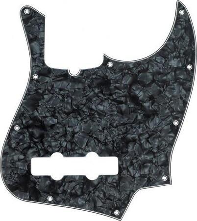 Fender Jazz Bass Pickguard Siyah-Sedefli (Black pearl)