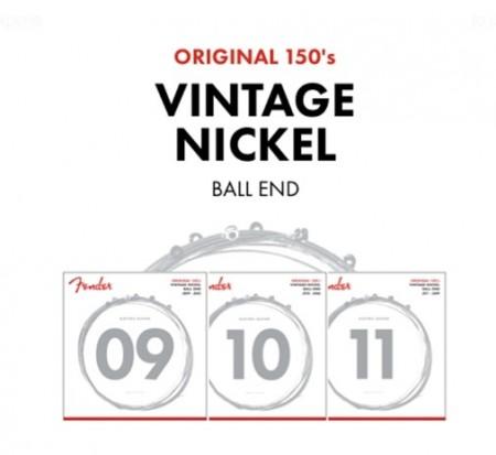 Fender Original 150L Guitar Strings Pure Nickel Wound Ball End (09-42) Elektro Gitar Takım Tel - Thumbnail
