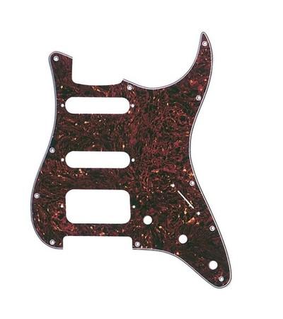 Fender - Fender American Standard-Deluxe, Hot Rod 11 Hole H/S/S Configuration 4-Ply Tortoise Shell Stratocaster Pickguard