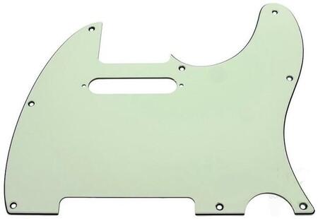 Fender - Fender Pickguard Tele 8 Hole 3-Ply Mint Green