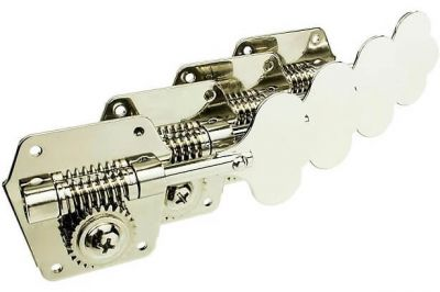 Fender Pure Vintage Bass Tuning Machine, 4 Pack, Nickel-Plated