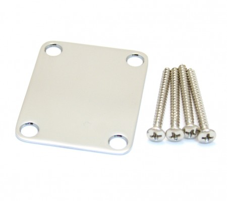 Fender - Fender Sap Plakası-Neck Plate No Logo Chrome