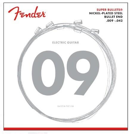 Fender - Fender Super Bullets 3250L Nickel-Plated Steel (9-42) Elektro Gitar Takım Tel