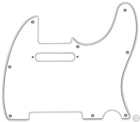 Fender American-American Standard-Deluxe 8 Hole 3-Ply WHT Tele Pickguard