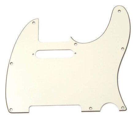 Fender - Fender Telecaster Pickguard 8 Delikli, Parşömen Rengi (Parchment)