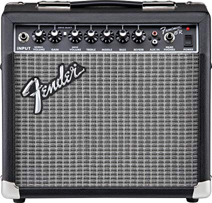 Fender Frontman 15G Black Elektro Gitar Amfisi