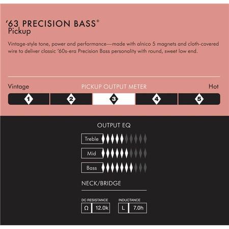 Fender Pure Vintage '63 Precision Bass Manyetik Seti - Thumbnail