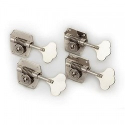 Fender - Fender Pure Vintage Bass Tuning Machine, 4 Pack, Nickel-Plated