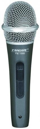 Fugue - Fugue FM-198B Mikrofon Kablolu Gümüş Başlıklı Dinamik Tek Yönlü