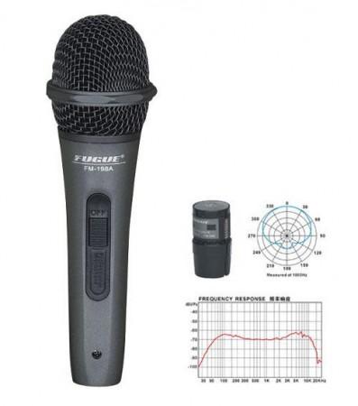 Fugue FM-198A Mikrofon Kablolu Siyah Başlıklı Dinamik Tek Yönlü - Thumbnail