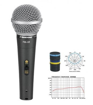 Fugue FM-58 Mikrofon Kablolu Dinamik Tek Yönlü 600 OHM - Thumbnail