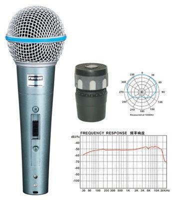 Fugue FM-58A Mikrofon Kablolu Dinamik Tek Yönlü 600 OHM - Thumbnail