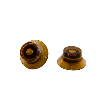 Gibson PRHK030 Vintage Amber Top Hat Bell Knobs 4'lü knobs - Thumbnail