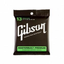 Gibson - Gibson SAG-MB13 Masterbuilt Premium Phosphor Bronze Akustik Gitar Teli (13 56)