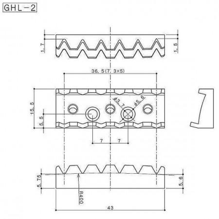 Gotoh GHL-2BK Locking Nut-Kilitli - Thumbnail