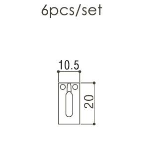 Gotoh S21C Strat ve Tele Saddle Set - Thumbnail