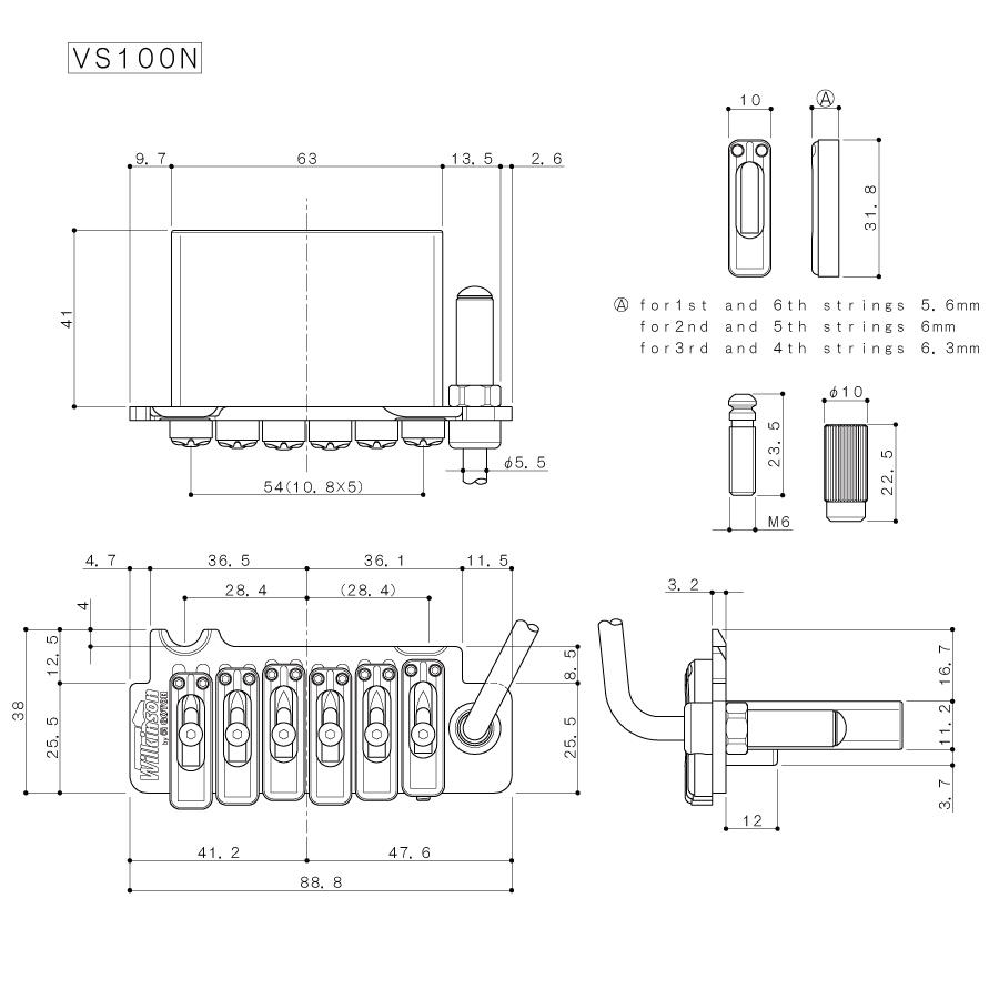 Gotoh VS-100N Wilkinson Tremolo Sistemi