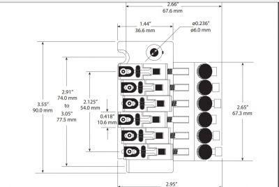 GraphTech PS-0080-GO Floyd Rose Style Bridge