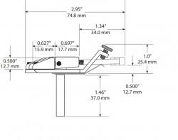 GraphTech PS-0080-GO Floyd Rose Style Bridge - Thumbnail