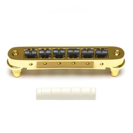 GraphTech - GraphTech PX-8843-G0 Tune-O-Matic Gitarlar İçin SuperCharger Set (Gold)