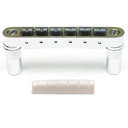 GraphTech - GraphTech PX-8863-C0 6mm Tune-O-Matic Gitarlar İçin SuperCharger Set (Krom)