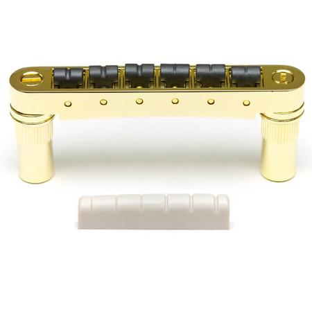 GraphTech - GraphTech PX-8863-G0 6mm Tune-O-Matic Gitarlar İçin SuperCharger Set (Gold)