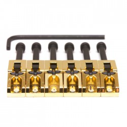 GraphTech - GraphTech PG-0080-G6 Floyd Rose Stil Gold Saddles