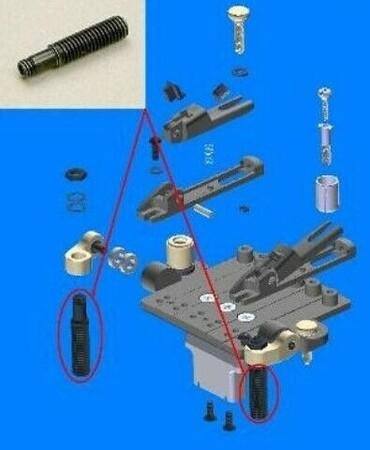 İbanez Stud Screw SynchroniZR 2TRX5BB004 Tremolo Saplama Vidası - Thumbnail