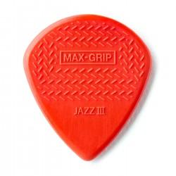 Jim Dunlop - Jim Dunlop 471R3N-1 Max Grip Jazz III Nylon Kırmızı Pena