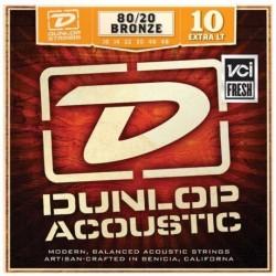 Jim Dunlop - Jim Dunlop Extra Light 80/20 Bronze DAB1048 Akustik Gitar Tel Seti (10-48)