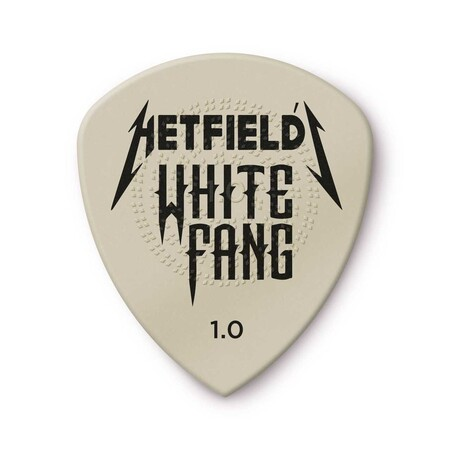 - Jim Dunlop Hetfıeld's Whıte Fang Custom Flow® Pıck 1.0mm