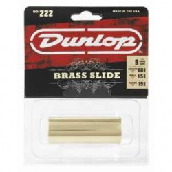 Jim Dunlop 222 Brass & Gold Medium Slide - Thumbnail