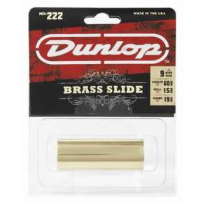 Jim Dunlop 222 Brass & Gold Medium Slide