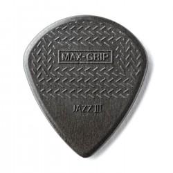 Jim Dunlop - Jim Dunlop 471R3C-1 Max Grip Jazz III Carbon Fiber Gri Pena