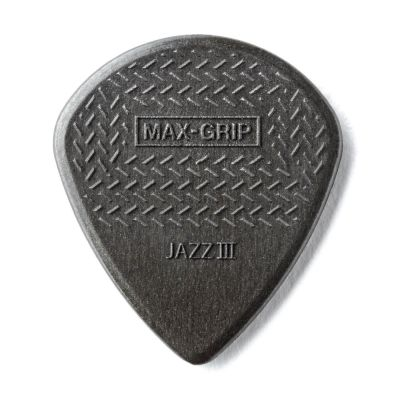 Jim Dunlop 471R3C-1 Max Grip Jazz III Carbon Fiber Gri Pena